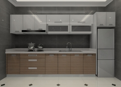 Custom kitchen cabinets combination of melamine and lacquer cabinets