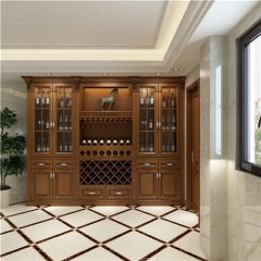 custom wood wine cabinet