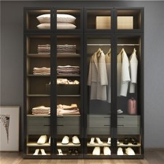 Led Hanging Closet Rod Glass Door Closet