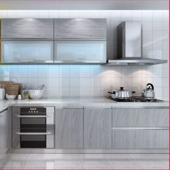 China cheap wood grain kitchen cabinets