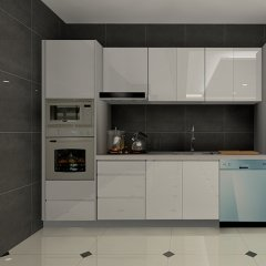 High Glossy Small Kitchen Ideas