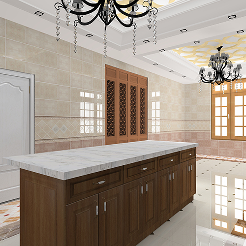 solid wood kitchen center island marble countertops
