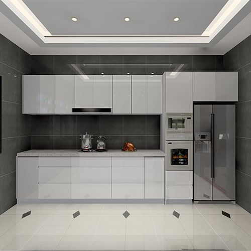 lacquered kitchen cabinet color choice