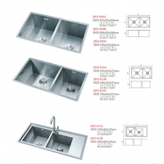 304 stainless steel manual kitchen sink
